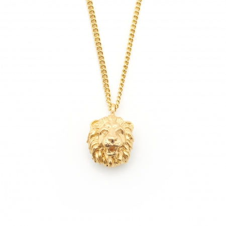 Bill Skinner Lion Necklace Gold Pendant