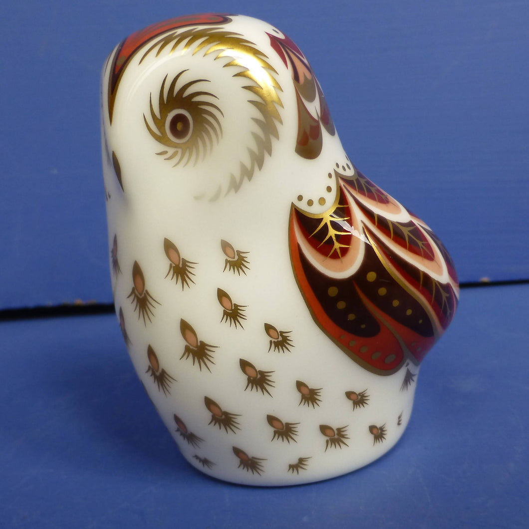 Royal Crown Derby Paperweight - Owlet