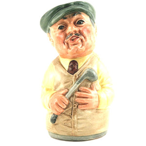 Royal Doulton Doultonville Toby Jug - Major Green The Golfer D6740