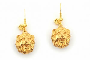 Bill Skinner Lion Earrings Gold
