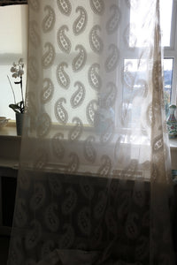 "Paisley- antique design shimmer Curtain Panelling - 66 x 45""Inches long- to finish"