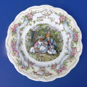 Royal Doulton Brambly Hedge Plate Poppy's Babies from the series by Jill Barklem