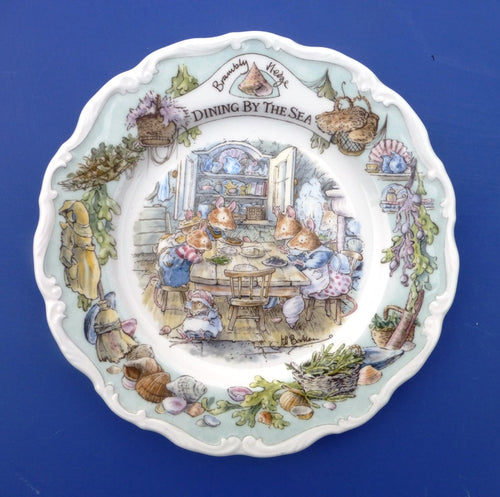 Royal Doulton Brambly Hedge Sea Story Plate (Full Size) - Dining By The Sea