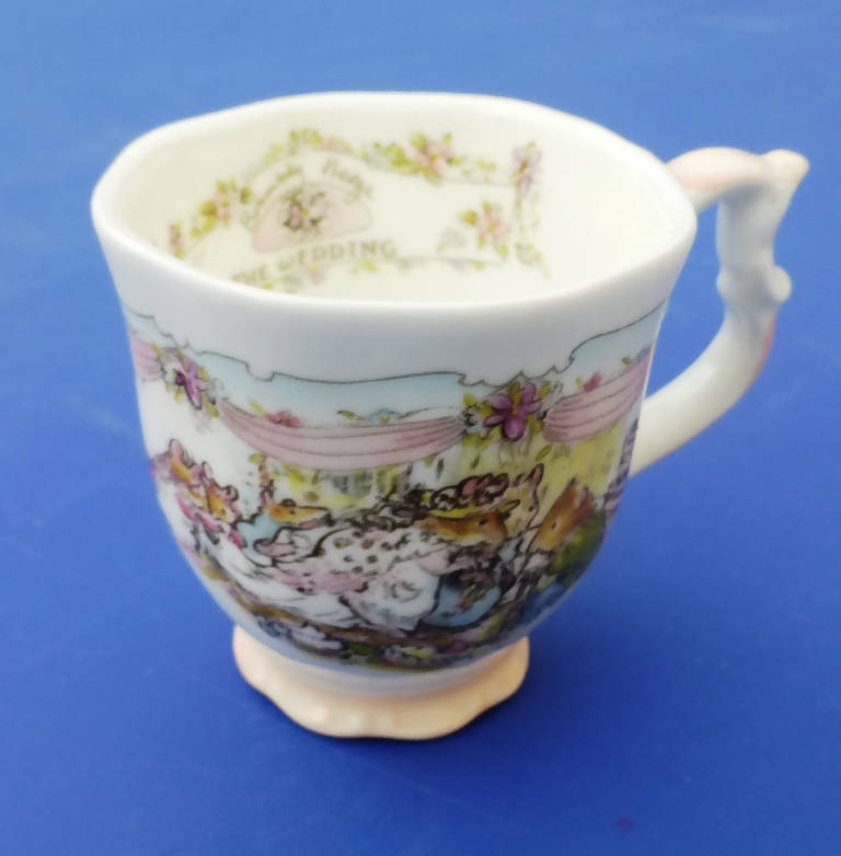 Royal Doulton Brambly Hedge Miniature Wedding Beaker by Jill Barklem