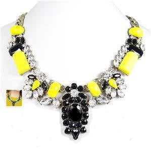 Black and Yellow Necklace