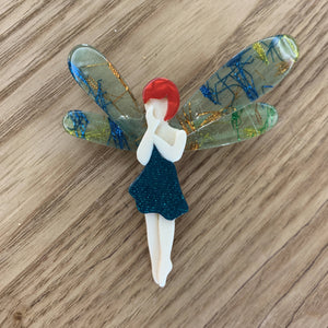Lea Stein Fairy Brooch/ Pin