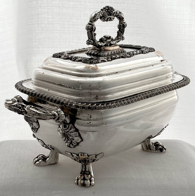 Georgian Old Sheffield Plate Sauce Tureen & Cover, circa 1810 - 1830.