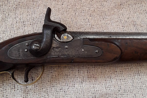 A Large English Tower Percussion Military  Pistol.