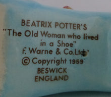 Beswick Beatrix Potter Figurine - Old Woman Who Lived In A Shoe BP3B