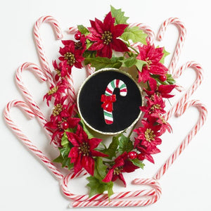 Erstwilder Sprinkled with Love Candy Cane Christmas brooch