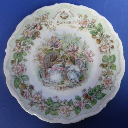 Royal Doulton Brambly Hedge Tea Plate Summer