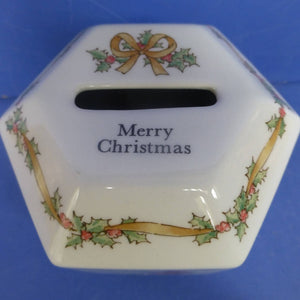 Wedgwood Beatrix Potter Peter Rabbit Merry Christmas Money Box