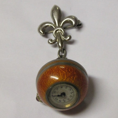 1940 Silver ,Enamel,Brooch & Watch