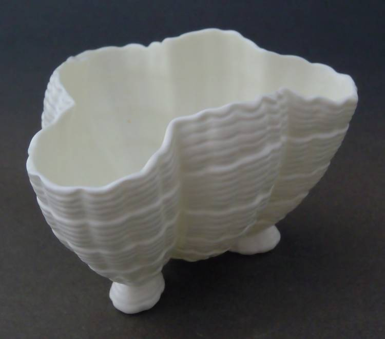 Antique Royal Worcester white shell bowl, c1911/12