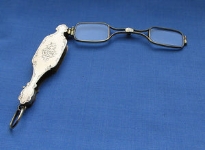 Fine Continental Lorgnette/Fully Marked/Optical/Lorgnettes/Spectacles