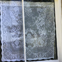 "Jessica white cotton lace Curtain Panel Readymade 36"" x 24"" 90 x 60cms"