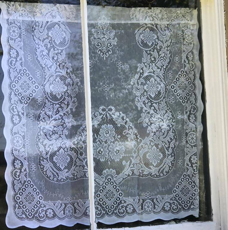 Jessica white cotton lace Curtain Panel Readymade 36