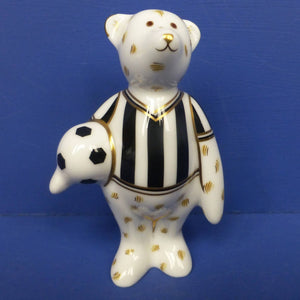 Royal Crown Derby Miniature Bear - Footballer (Boxed)