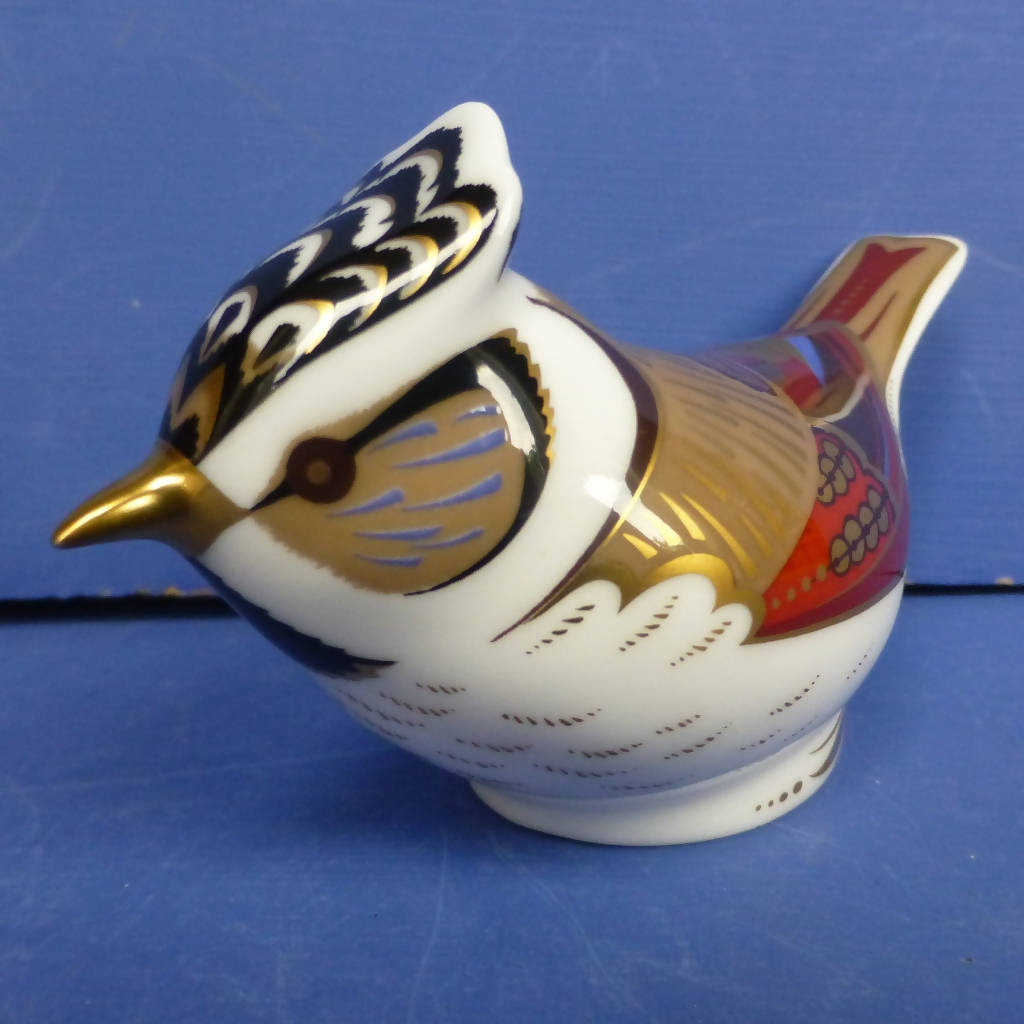 Royal Crown Derby Paperweight - Crested Tit