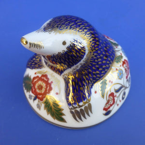 Royal Crown Derby Paperweight Mole (Boxed)
