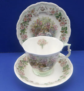 Royal Doulton Brambly Hedge Summer Trio Teacup, Saucer and Plate - Full Size