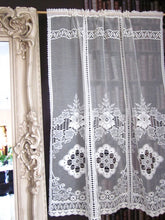 """Victoria"" Vintage Heritage Design Cream Pair Of Cotton Lace Curtain Panels - 36 x 54 Inches"