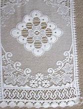 """Victoria"" Vintage Heritage Design Cream Pair Of Cotton Lace Curtain Panels - 22"" x 34"""