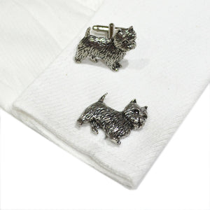 Westie Cufflinks West Highland Terrier Pewter