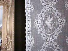 Doves- Victorian Style white Cotton Lace Curtain Panelling Sold By The Metre - 52 inches wide