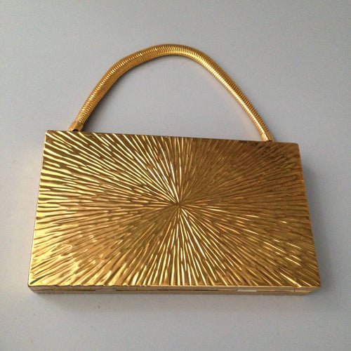 1960's/70's gold plated minaudière, as new