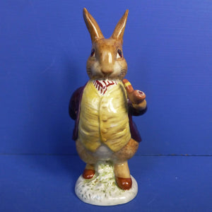 Beswick Beatrix Potter Figurine Mr Benjamin Bunny (First Version, Pipe Out) Gold Backstamp BP2