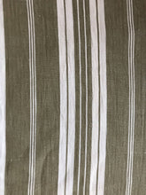 "Antique French toile a matelas ticking stripe large panel for projects 80""/50"""
