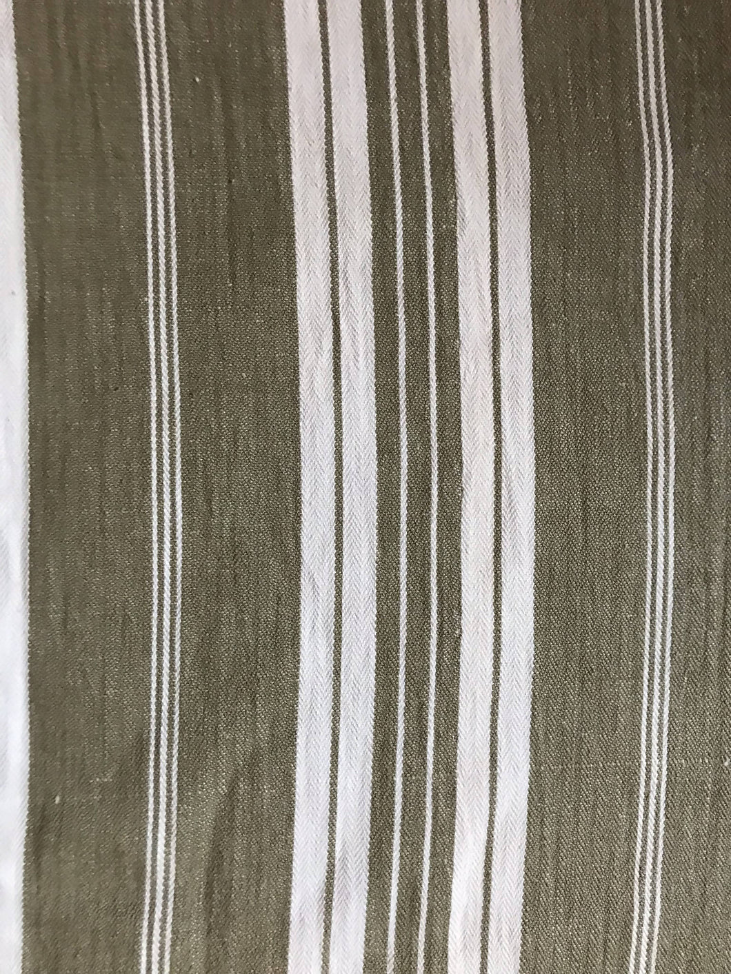 Antique French toile a matelas ticking stripe large panel for projects 80