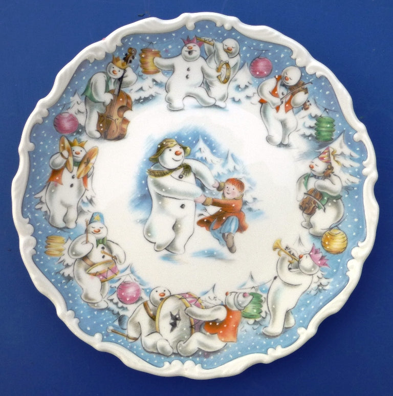 Royal Doulton Snowman Plate - Dance of the Snowman from the Series by Raymond Briggs