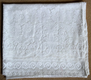"Victorianna Rose - C1900s design Cotton Lace Curtain Panel 40"" x 70"" readymade"