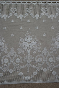 """Josephine"" Antique Style Ivory Scottish Cotton Lace Valance Curtain Panel - 23"" drop by the metre"