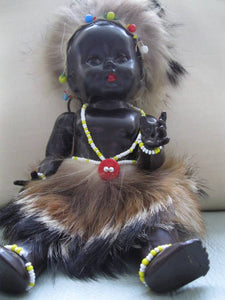 Vintage Black Hard Plastic Doll