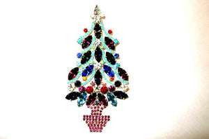 Extra Large Christmas Tree Brooch/ Pin