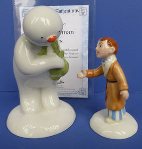 Royal Doulton Limited Edition Snowman - The Snowman and James (Pair)