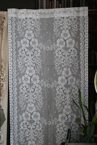 Victorianna Spray- Victorian design Cream Cotton Lace Curtain Panelling By The Metre- Width 80 cms