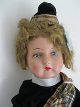 German Papier Mache Scottish Doll Early 20th Century