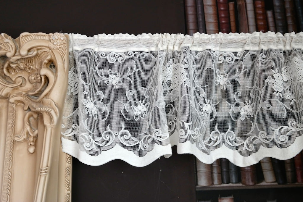 Duchesse Country Cottage Cotton Valance Lace Panelling in Cream 12