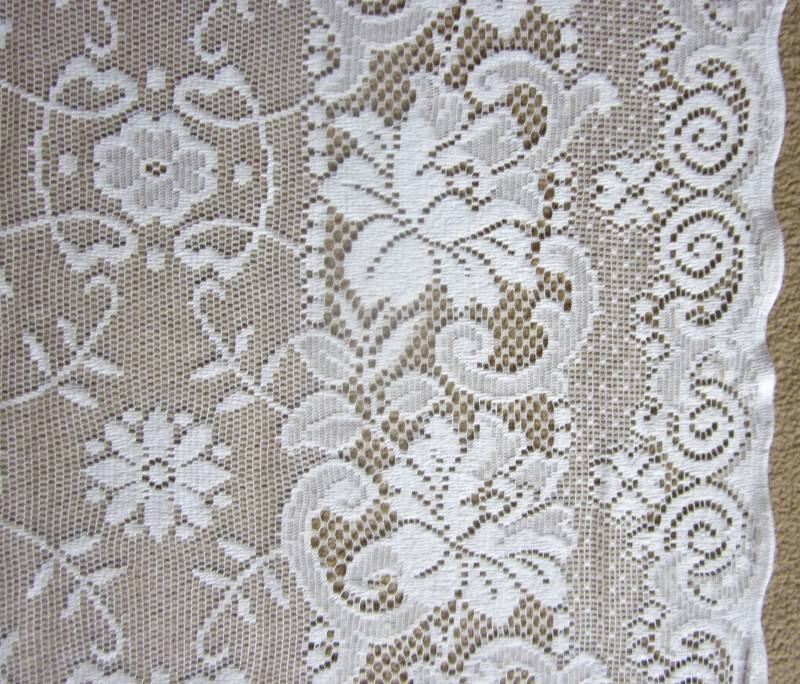 "Victorianna- Victorian Style White Cotton Lace sash window Curtain Panelling 52"" wide"