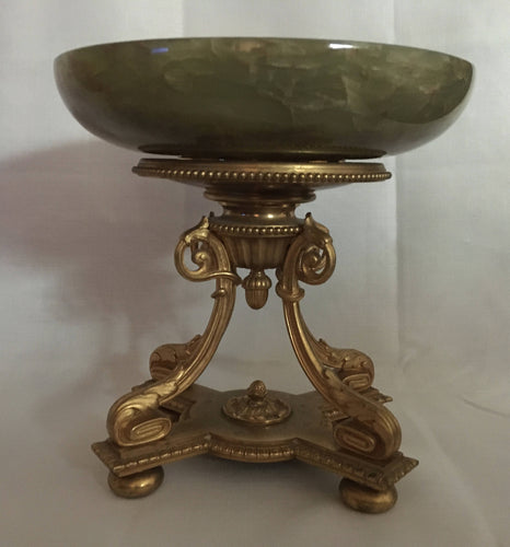 Regency style gilt metal and onyx centrepiece, circa 1920's.