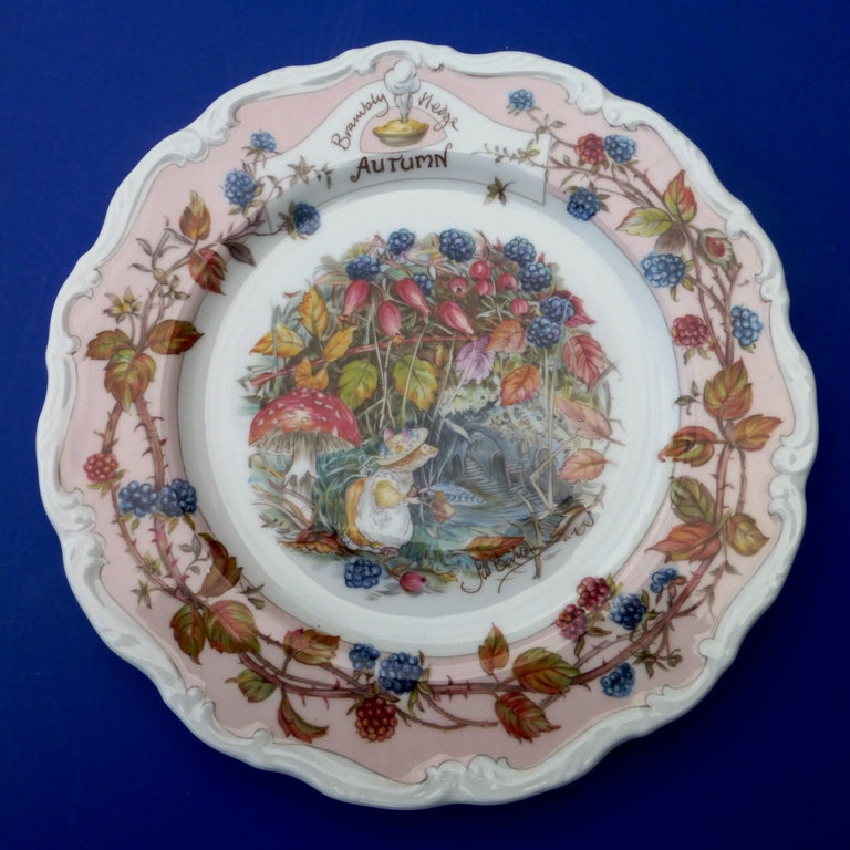 Royal Doulton Brambly Hedge Seasons Wall Plate - Autumn
