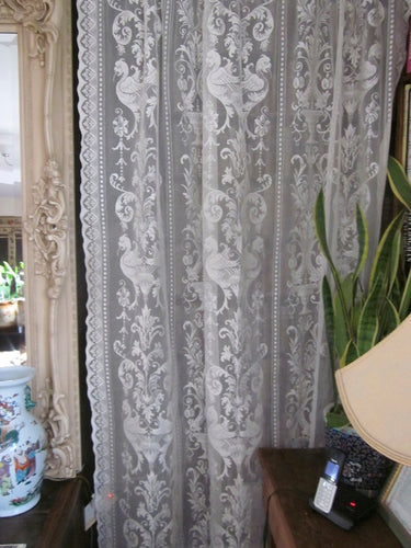 Griffins Period Design Cotton Lace Curtain Panel Ready To Hang- 1.4m x 2.1m /58