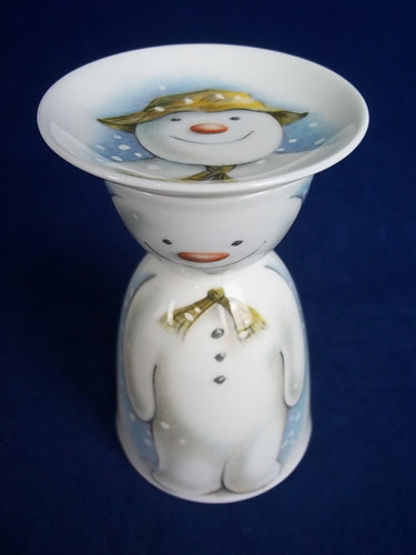 Royal Doulton Snowman Eggcup and Small Plate