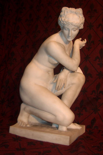 Large 19th Century French Sculpture of Crouching Venus by Barbedienne
