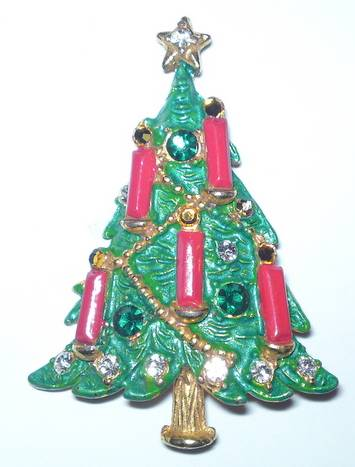 Butler & Wilson Christmas Tree Brooch