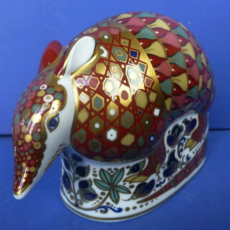 Royal Crown Derby Paperweight Armadillo (Boxed)